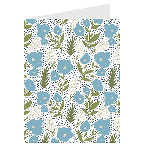posies card - light blue