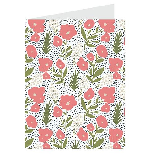 posies card - pink