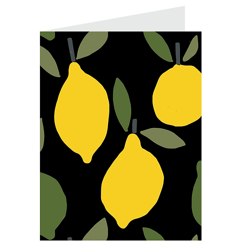 lemons card - black