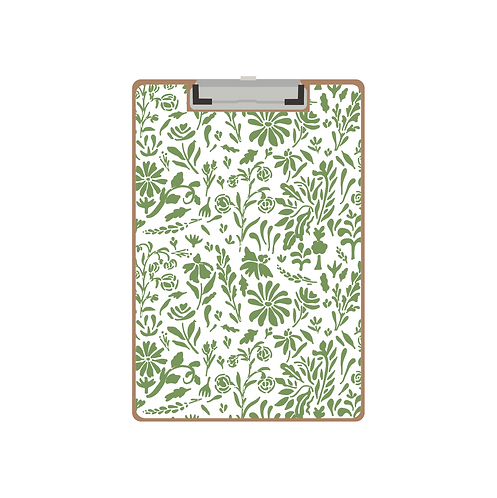 CLIPBOARD green old world floral pattern pattern