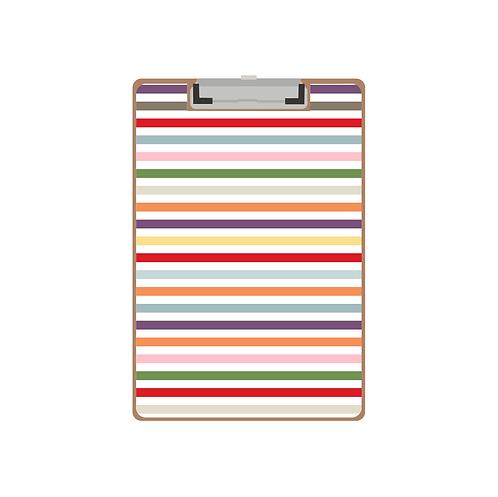 CLIPBOARD multi stripe pattern
