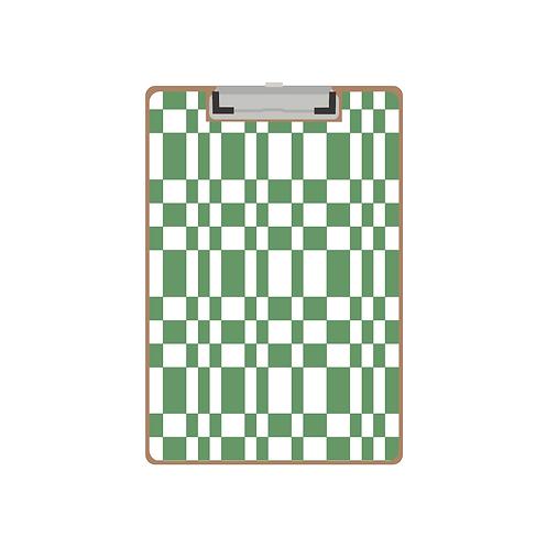 CLIPBOARD green tile pattern