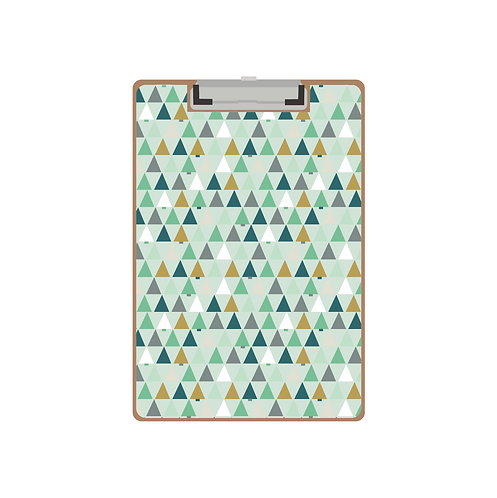 CLIPBOARD Christmas tree triangles mint pattern