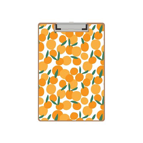 CLIPBOARD white citrus pattern