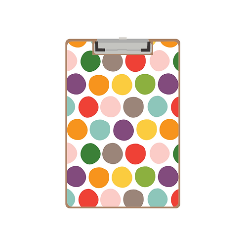 CLIPBOARD painted polka dot pattern