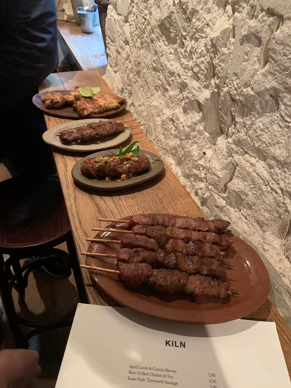 Lamb skewers KILN Soho