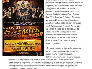 Geda presenta concierto urbano en Sabana Grande