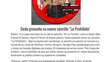 """Geda presenta su nuevo sencillo """"Lo Prohibido"""""""
