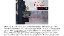 """Geda anuncia estreno del video de """"Amor"""""""