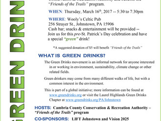 Green Drinks Set for March 16th