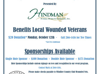 Windber Country Club: Tee it up for a Wounded Veteran Event on October 12