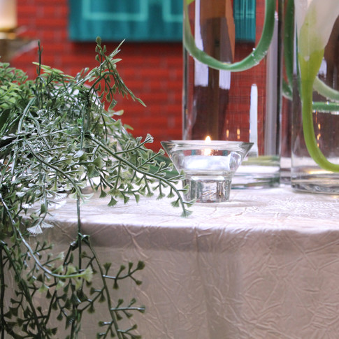 greenery centrepieces
