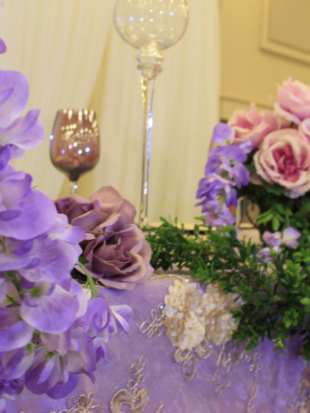 Violet wedding decor