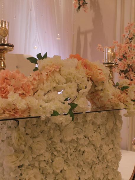 Custom floral table