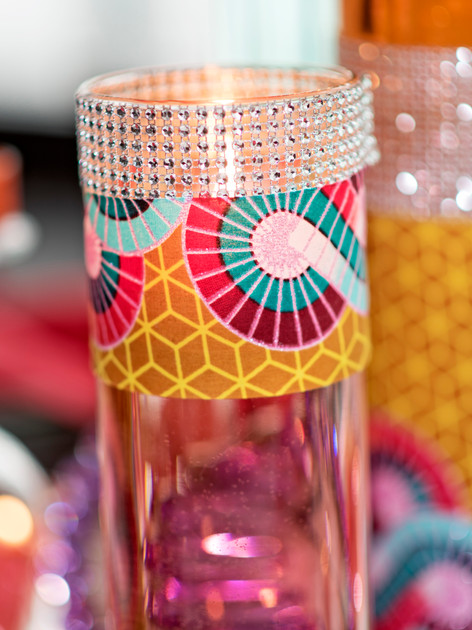 African print vase wrap