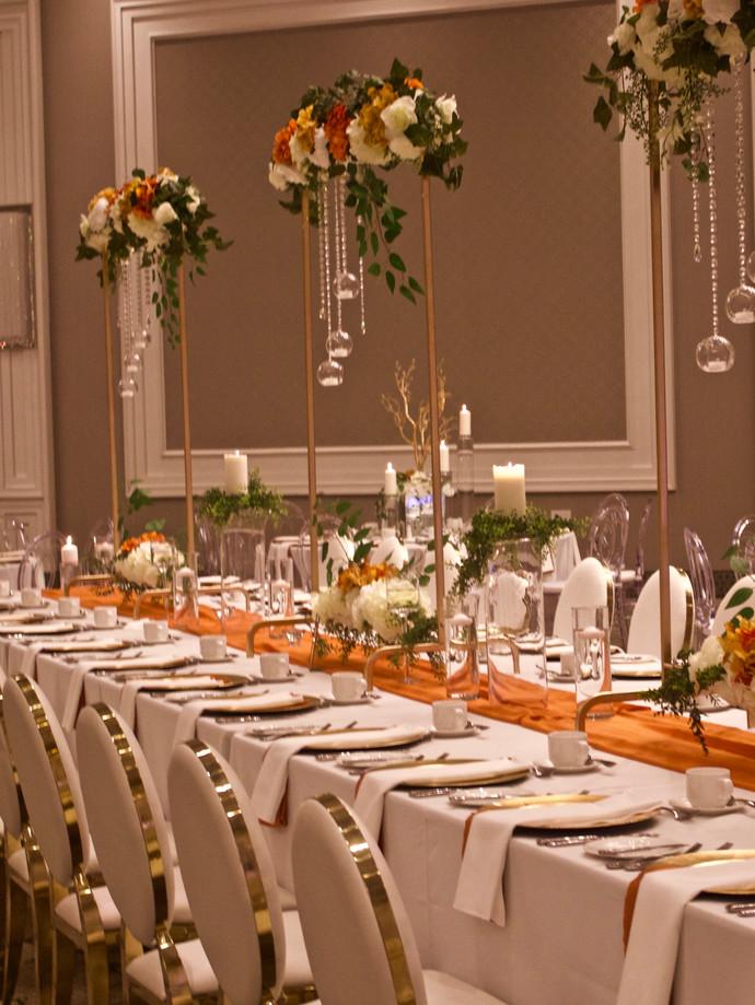 Custom tabletop floral arch