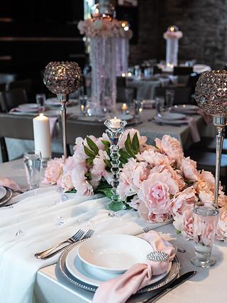 Blush table setting