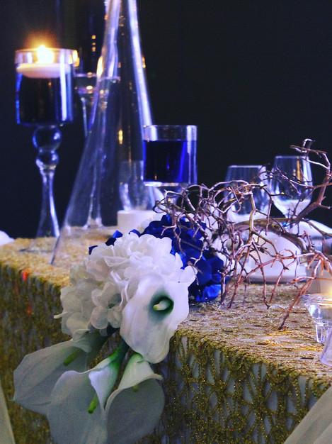 Head table floral centrepiece