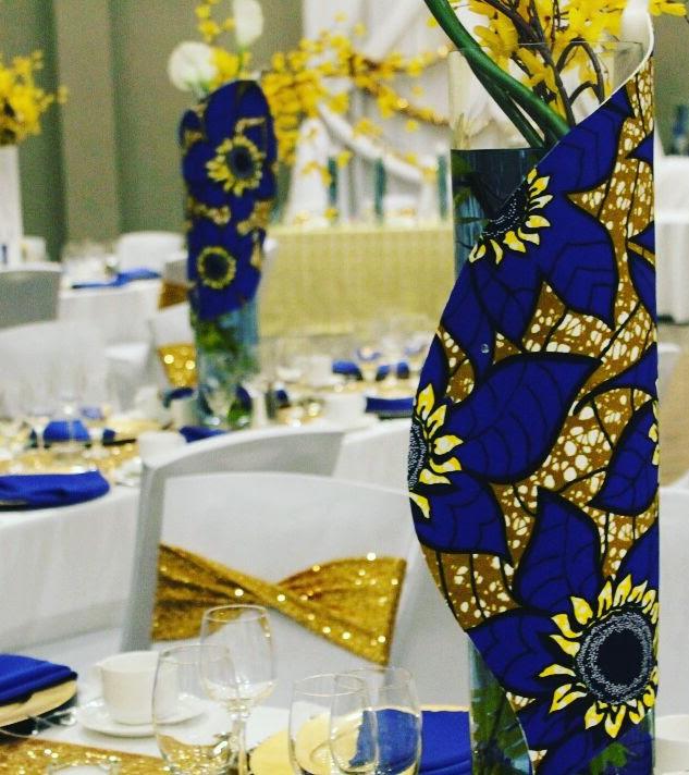 Afro Chic vase wrap
