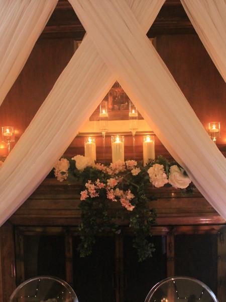 Fireplace wedding decor