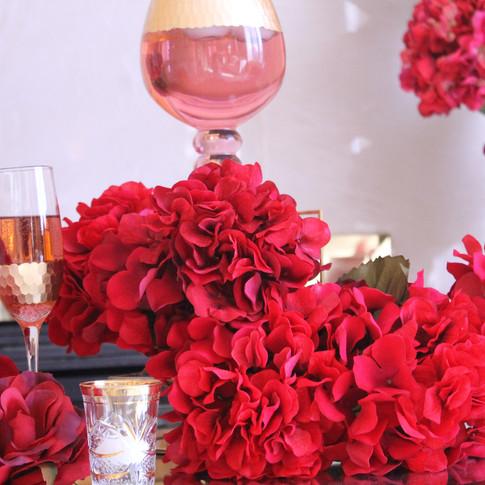Ruby red wedding decor