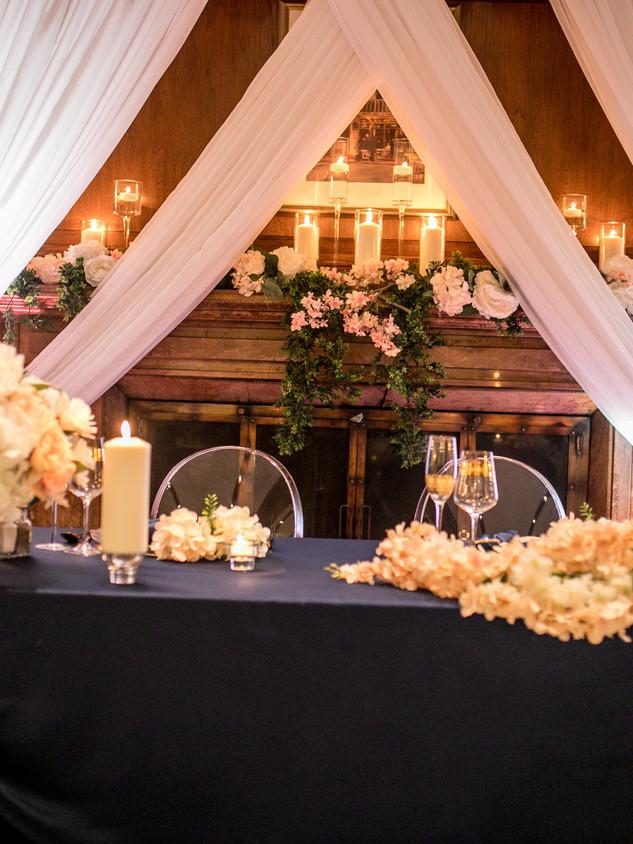 Fireplace wedding