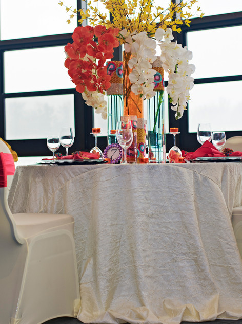 African print tablescape