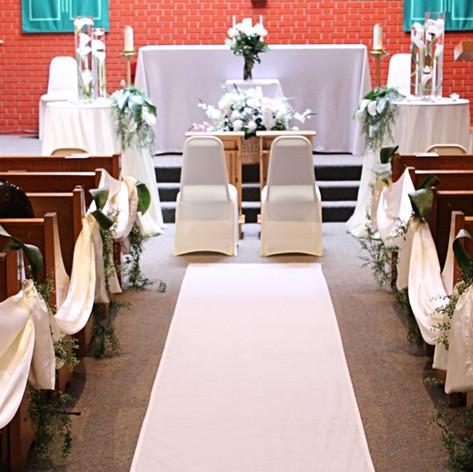 greenery ceremony decor