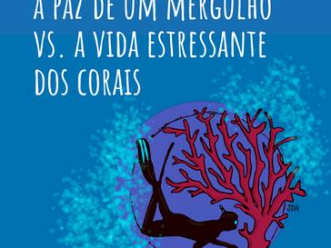 A paz que sinto num mergulho vs. a vida estressante dos corais