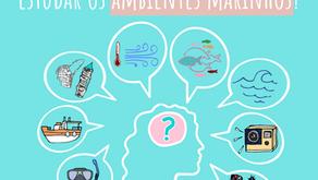 Como cientistas obtêm dados para estudar os ambientes marinhos?