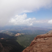 View from along the road to Pike's Peak