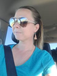 Nicole in Idaho bomber leather