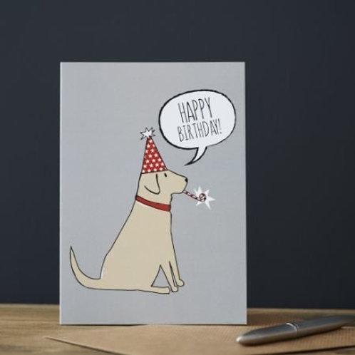 Yellow Labrador Birthday Card