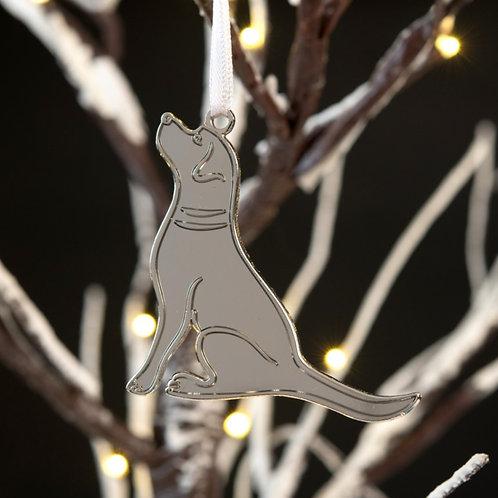 Silver Labrador Decoration