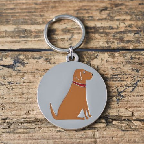 Fox Red Labrador  Dog Tag
