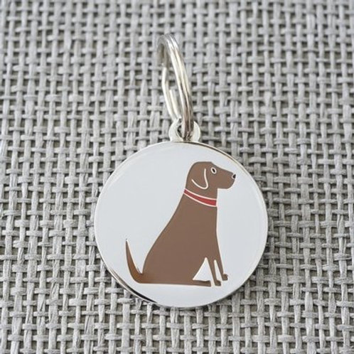 Chocolate Lab Dog Tag