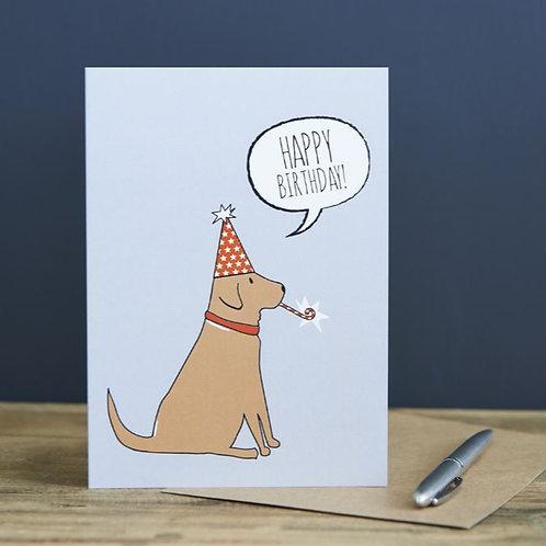 Fox Red Labrador Birthday Card
