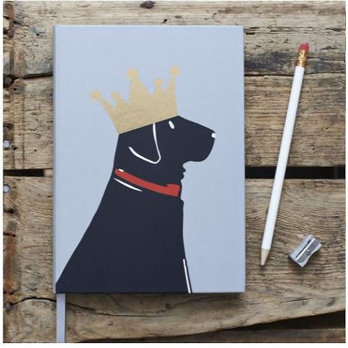 Black Labrador Note Book
