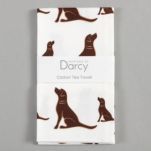 Darcey  Labrador Tea Towel (Choose Lab Colour)