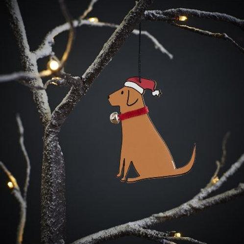 Fox Red Labrador Christmas Tree Ornament