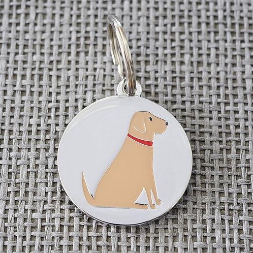 Yellow Chocolate Labrador  Dog Tag