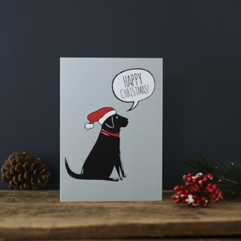 Christmas Card Black Labrador
