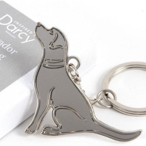 Silver Labrador Key Ring