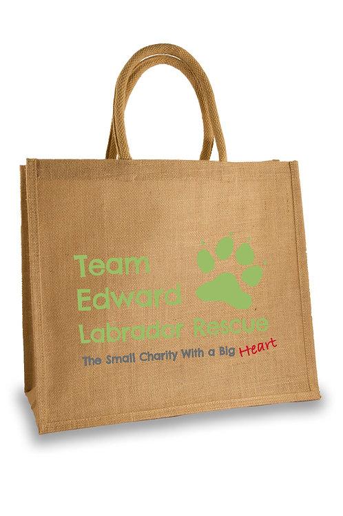 Team Edward Large Shopping Jute Bag