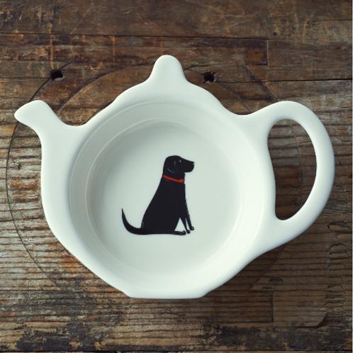 Black Labrador Tea Bag Dish