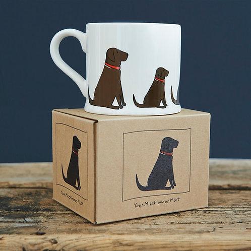 Labrador Mug Sweet William (Choose Lab Colour)