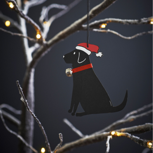 Black Labrador Christmas Tree Ornament