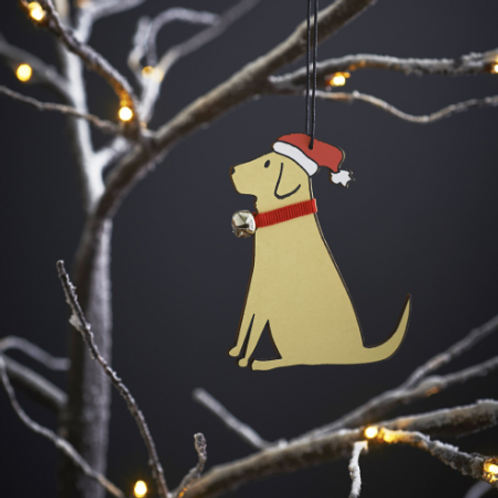 Yellow Labrador Christmas Tree Ornament