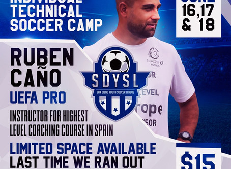 SDYSL | Individual Technical Soccer Camp 2019