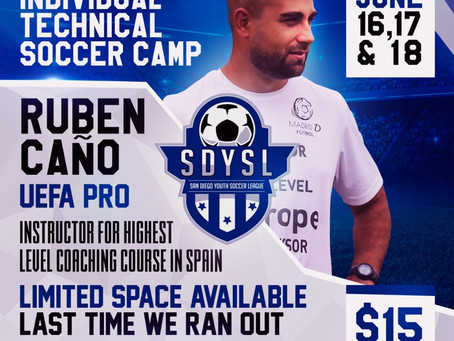 SDYSL   Individual Technical Soccer Camp 2019